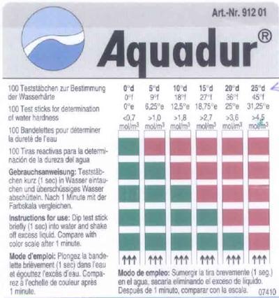 Aquadur teststäbchen